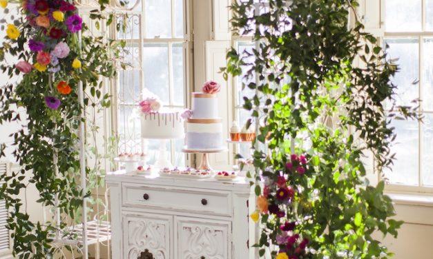 Babyshower floral chic: escapa de lo clásico