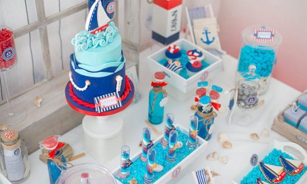 Mesa de dulces de estilo marinero