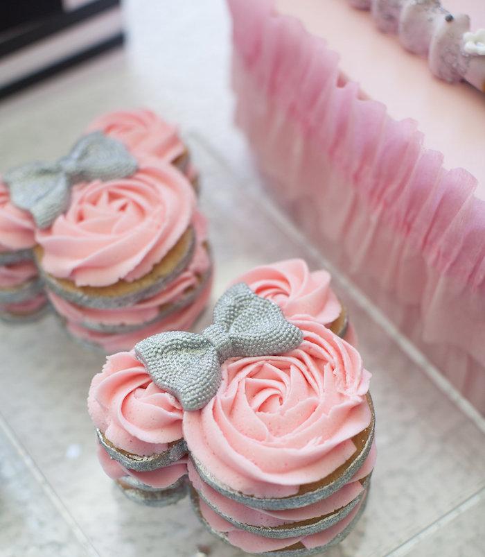Cumpleaños Minnie Mouse en rosa, negro y plateado - La Dolce Party