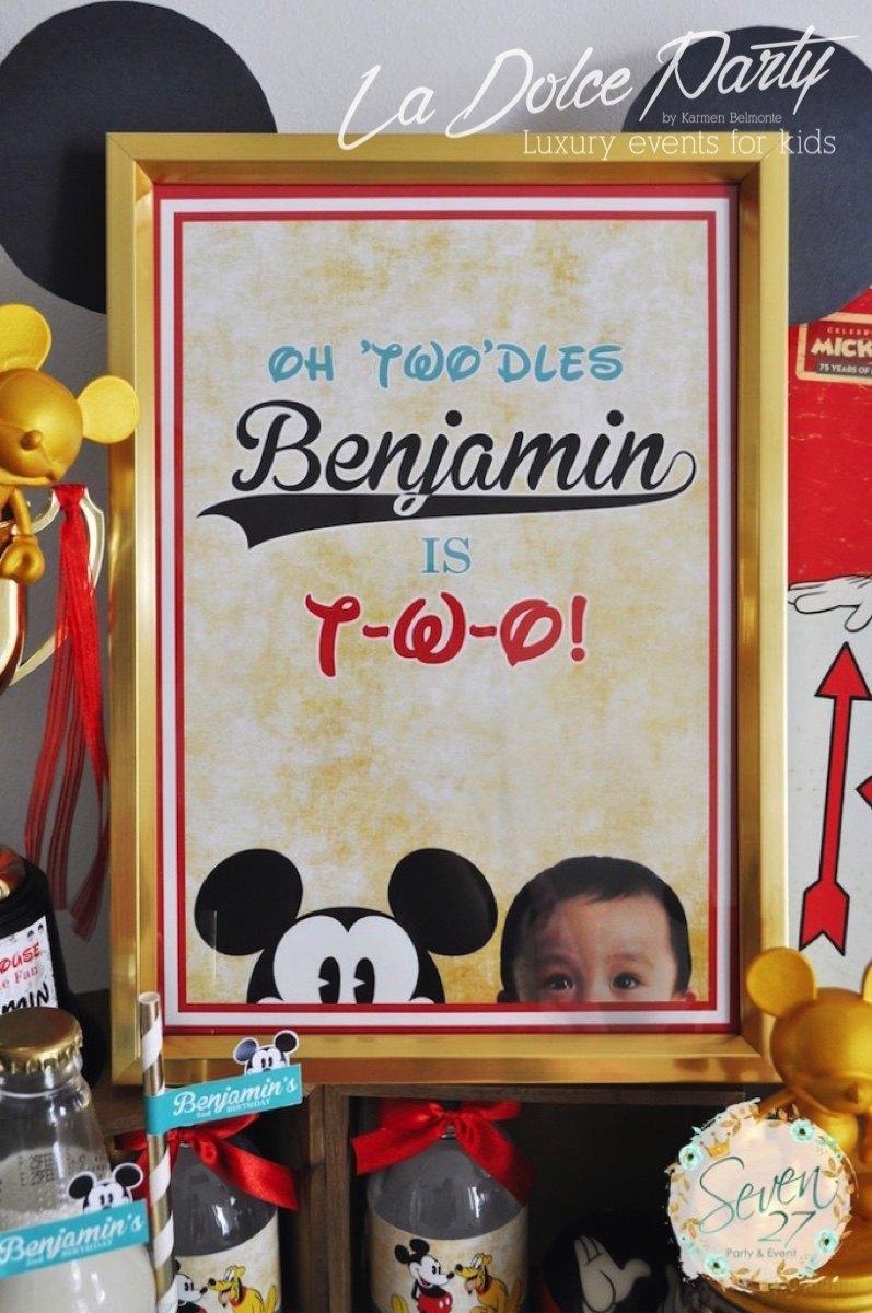 Cumpleaños Mickey Mouse estilo vintage - La Dolce Party