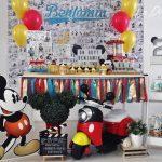 Cumpleaños Mickey Mouse estilo vintage