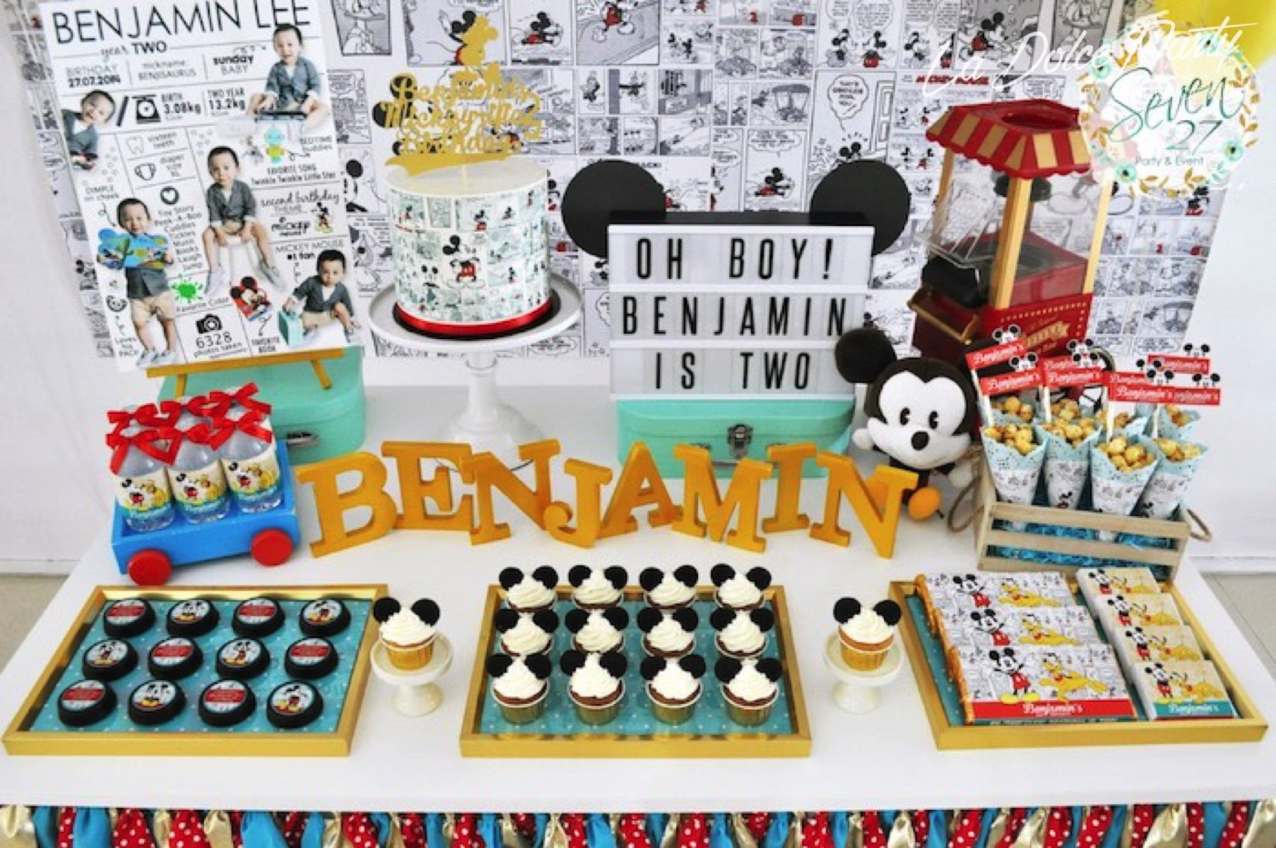 Cumpleanos Mickey Mouse Estilo Vintage La Dolce Party