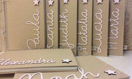Libretas personalizadas y álbum de comunión