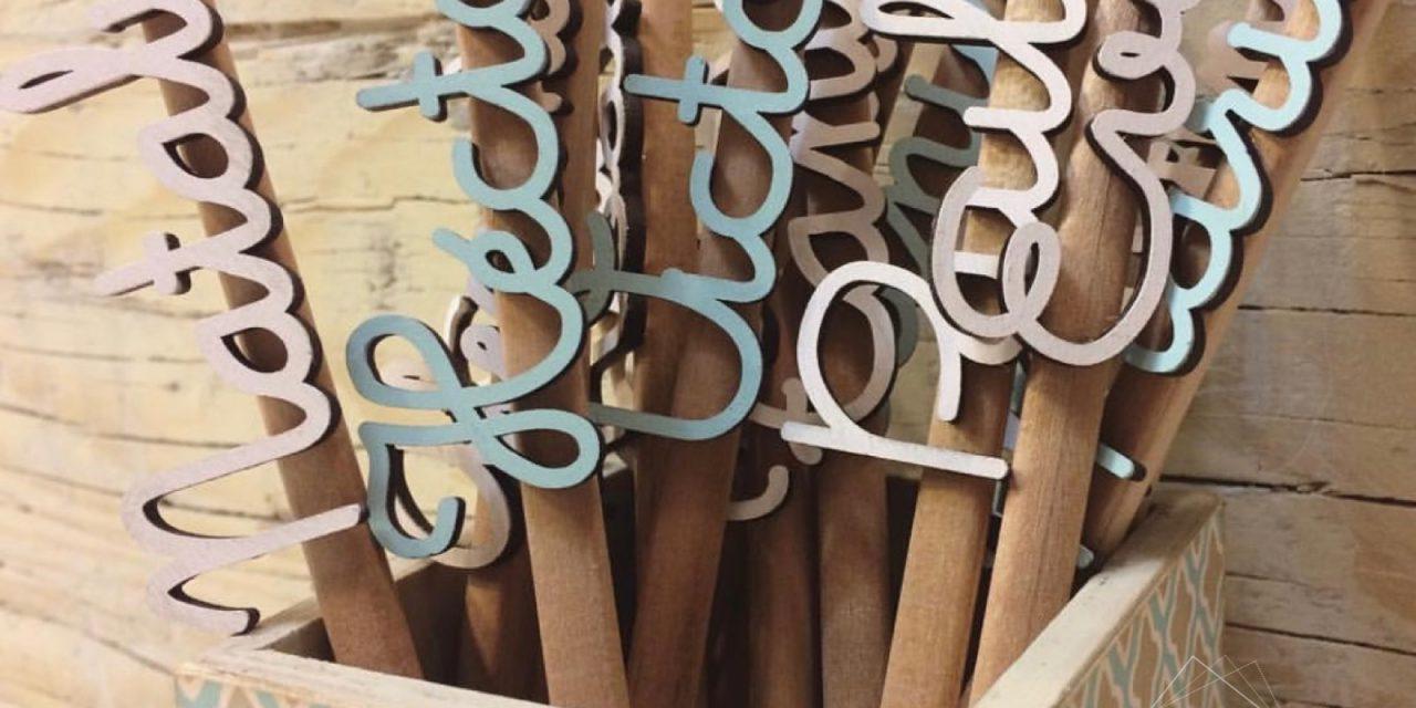 Lápices personalizados para comuniones, bautizos y bodas